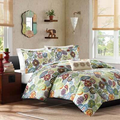 Tamil 4 Piece Duvet Cover Set Size: King / California King