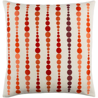 Flying Colors Dewdrop Cotton Pillow Cover Size: 20 H x 20 W x 1 D, Color: Orange/Red