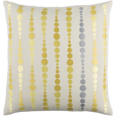 Flying Colors Dewdrop Cotton Pillow Cover Size: 20 H x 20 W x 1 D, Color: Yellow