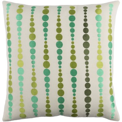 Flying Colors Dewdrop Cotton Pillow Cover Size: 20 H x 20 W x 1 D, Color: Green