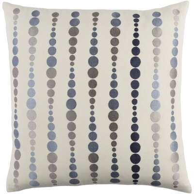 Flying Colors Dewdrop Cotton Pillow Cover Size: 18 H x 18 W x 1 D, Color: Blue/Gray