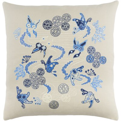 Kismet Chinese River Pillow Cover Size: 20 H x 20 W x 0.25 D, Color: Brown/Blue