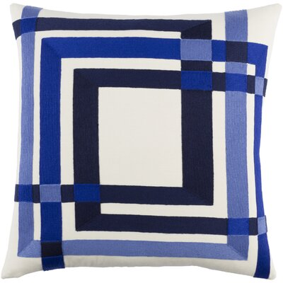 Kismet Color Form Cotton Pillow Cover Size: 18 H x 18 W x 1 D, Color: Blue