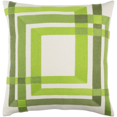 Kismet Color Form Cotton Pillow Cover Size: 20 H x 20 W x 0.25 D, Color: Green