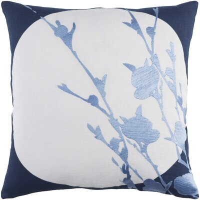 Flying Colors Harvest Moon Linen Pillow Cover Size: 18 H x 18 W x 1 D, Color: Blue