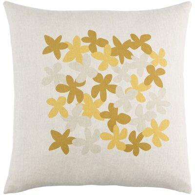 Flying Colors Little Flower Pillow Cover Size: 20 H x 20 W x 0.25 D, Color: Yellow