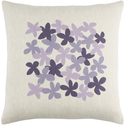 Flying Colors Little Flower Pillow Cover Size: 20 H x 20 W x 0.25 D, Color: Purple