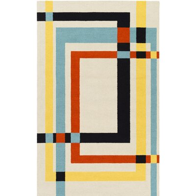 Kismet Tufted Modern Beige Area Rug Rug Size: Rectangle 5 x 76