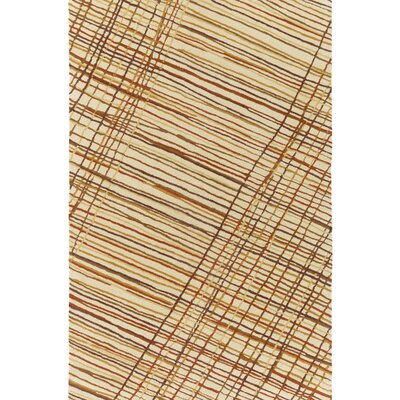 Flying Colors Criss-Cross Hand-Tufted Cream Area Rug Rug Size: 8 x 10