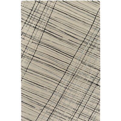 Flying Colors Criss-Cross Hand-Tufted Light Gray Area Rug Rug Size: 2 x 3