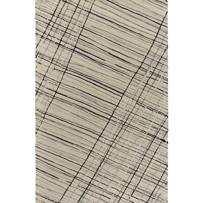 Flying Colors Criss-Cross Hand-Tufted Light Gray Area Rug Rug Size: Rectangle 5 x 76