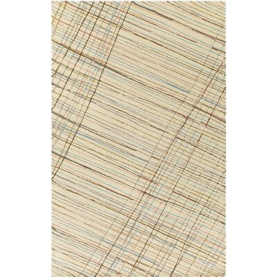 Flying Colors Criss-Cross Hand-Tufted Cream Area Rug Rug Size: 2 x 3