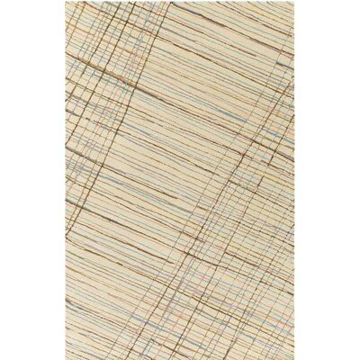 Flying Colors Criss-Cross Hand-Tufted Cream Area Rug Rug Size: Rectangle 5 x 76