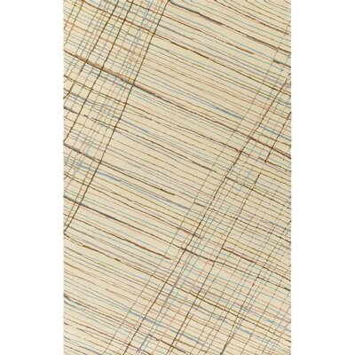 Flying Colors Criss-Cross Hand-Tufted Cream Area Rug Rug Size: Rectangle 8 x 10