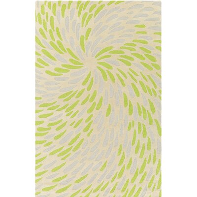 Flying Colors Eye of the Storm Hand-Tufted Cream Area Rug Rug Size: 2' x 3'