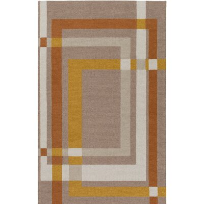 Kismet Color Forms Hand-Tufted Modern Brown Area Rug Rug Size: Rectangle 2 x 3