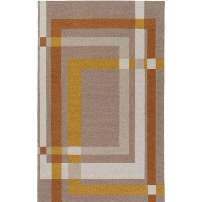 Kismet Color Forms Hand-Tufted Modern Brown Area Rug Rug Size: 2 x 3