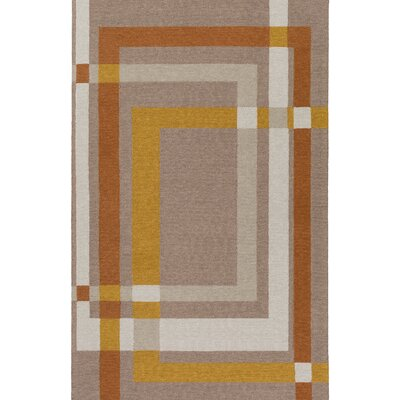Kismet Color Forms Hand-Tufted Modern Brown Area Rug Rug Size: 8 x 10