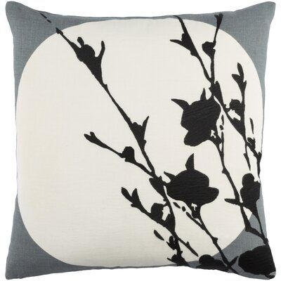 Flying Colors Harvest Moon Linen Throw Pillow Size: 22 H x 22 W x 5 D, Color: Charcoal/Cream/Black