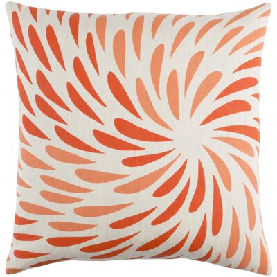 Flying Colors Eye of the Storm Throw Pillow Size: 22 H x 22 W x 5 D, Color: Bright Orange/Khaki