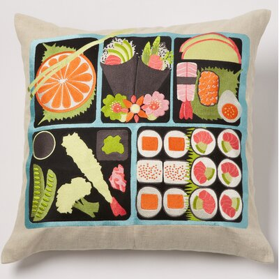Bento Linen Throw Pillow