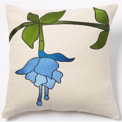 Beryl Linen Throw Pillow Color: Blue