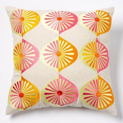 Pop Japan Many Fans Linen Throw Pillow Color: Sunshine