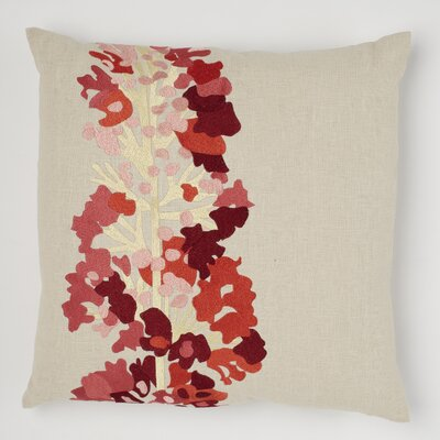 Daphne Linen Throw Pillow Color: Marmalade