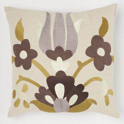 Lycia Linen Throw Pillow Color: Buttered Toast