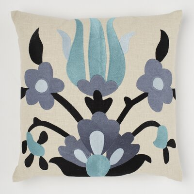 Lycia Linen Throw Pillow Color: Ocean