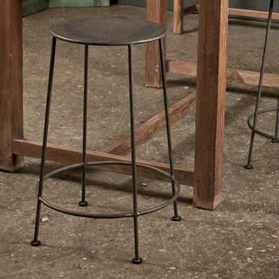No credit financing Iron Counter Stool in Zinc (Set of ...
