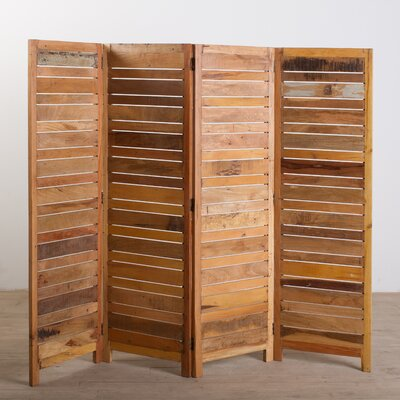 Buy low price cg sparks reclaimed wood 4 panel screen for Price of reclaimed wood