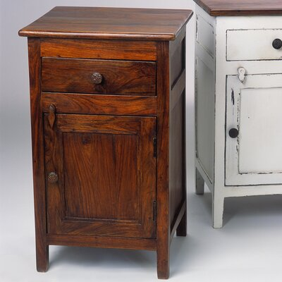 1 Drawer Nightstand Color Brown
