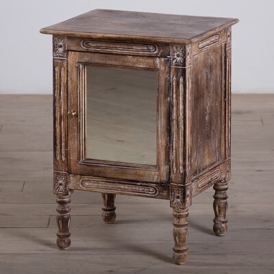 1 Door Mirror Nightstand