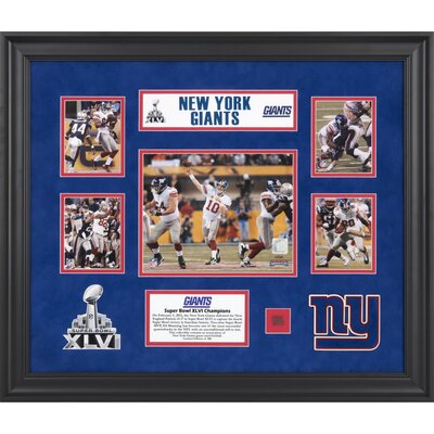 NFL New York Giants Super Bowl XLVI Champions 5-Photo Collage Framed Memorabilia FRFBGIA592