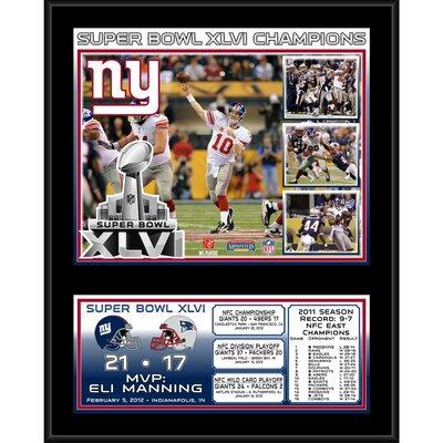 NFL New York Giants Super Bowl XLVI Sublimated Framed Memorabilia PLHFGIA550