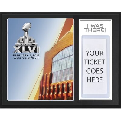 NFL New York Giants with New England Patriots Super Bowl XLVI Sublimated 'I WAS THERE' Framed Memorabilia PLAQFSB046