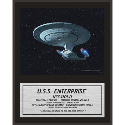 Star Trek: The Next Generation Enterprise Sublimated Framed Memorabilia PLHCSTA465
