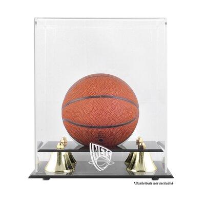 NBA Golden Classic Logo Mini Basketball Display Case NBA Team: New Jersey Nets