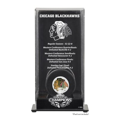 2010 Stanley Cup Championship Logo Puck Display Case NHL Team: Chicago Blackhawks DISPHK10SC