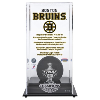 2010 Stanley Cup Championship Logo Puck Display Case NHL Team: Boston Bruins DISPHK11SC