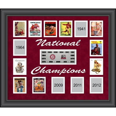 Alabama Crimson Tide 15-Time National Champions Framed Memorabilia FRCOALA127
