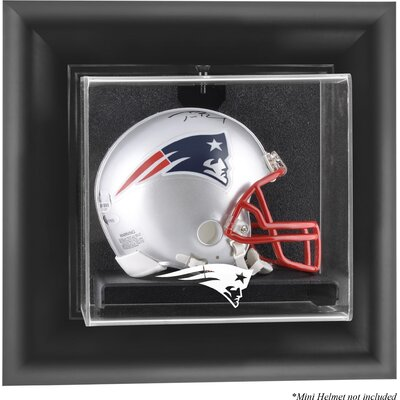 NFL Wall Mounted Mini Helmet Logo Display Case NFL Team: New England Patriots DISPUMPATR