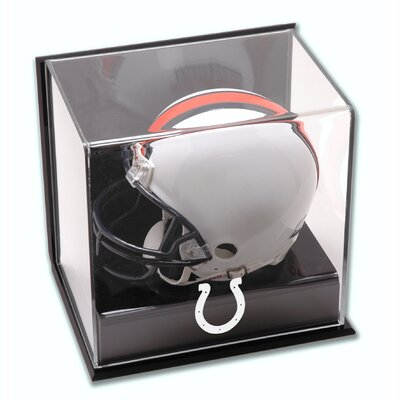 NFL Wall Mounted Logo Mini Helmet Display Case NFL Team: Indianapolis Colts DISPXMCOLT
