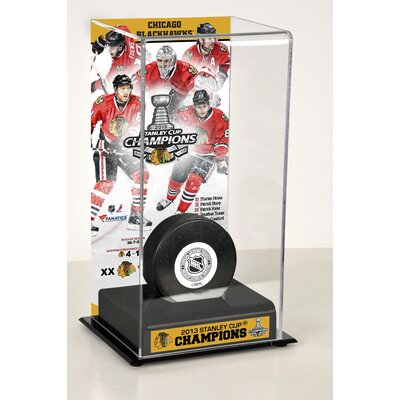 NHL 2013 Stanley Cup Champions Logo Deluxe Puck Display Case NHL Team: Chicago Blackhawks DISPHK13B3