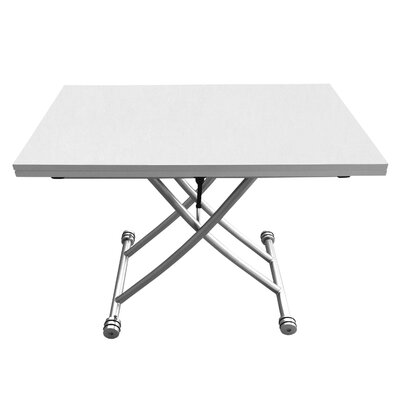 Senter Transforming Coffee Table Top Color: White