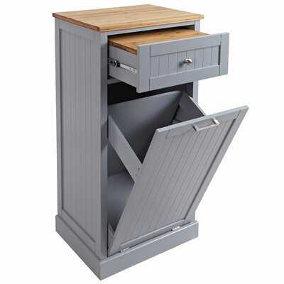 Microwave Kitchen Cart Base Finish: Gray