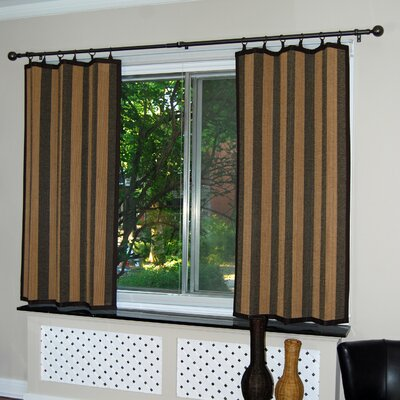 "Versailles Home Fashions Bamboo Ring Top Panel in Camel / Black - Size: 40"" x 63"" at Sears.com"
