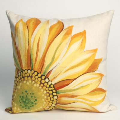 Keisha Sunflower Outdoor Throw Pillow Size: 20