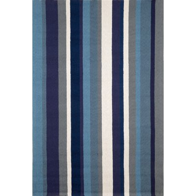 Clark Marine Vertical Stripe Indoor/Outdoor Area Rug Rug Size: 76 x 96